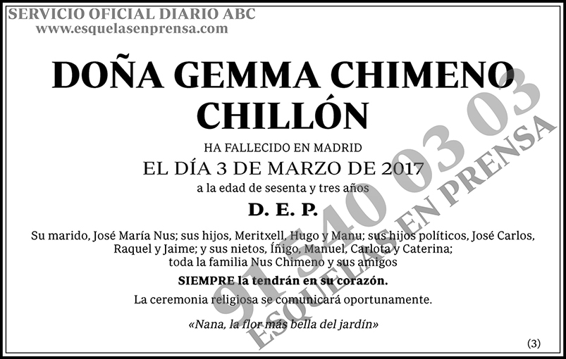 Gemma Chimeno Chillón